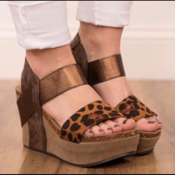 ecde1ca7ca Pierre Dumas Shoes | Hester Leopard Wedges | Poshmark